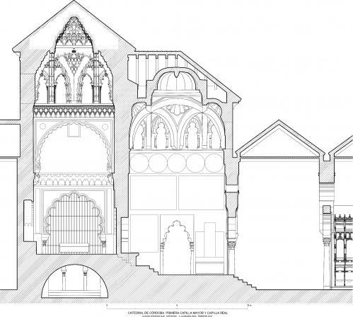 Mezquita de Córdoba - Sección Capilla Mayor y Capilla Real (Hipótesis)