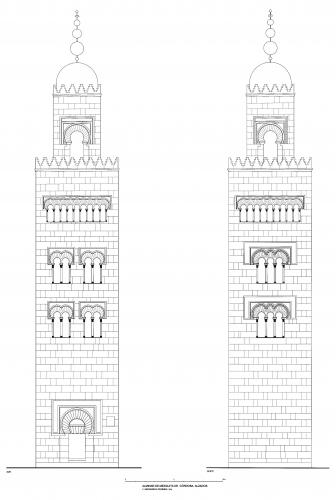 Mezquita de Córdoba - Alzados del alminar