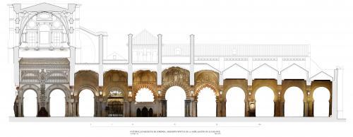 Mezquita de Córdoba - Frente de la ampliación de al-Hakam II con orto