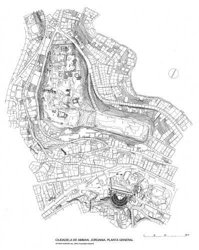 Ciudadela de Amman (Jordania) - Planta General
