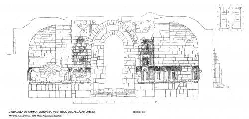 Ciudadela de Amman (Jordania) - Sección vestíbulo H-H