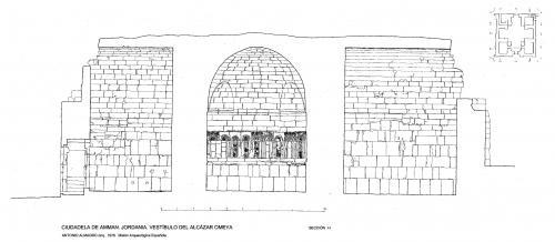 Ciudadela de Amman (Jordania) - Sección vestíbulo I-I