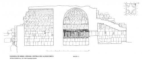 Ciudadela de Amman (Jordania) - Sección vestíbulo L-L