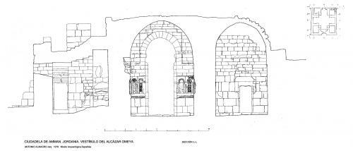 Ciudadela de Amman (Jordania) - Sección vestíbulo M-M