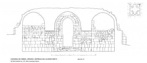 Ciudadela de Amman (Jordania) - Sección vestíbulo P-P