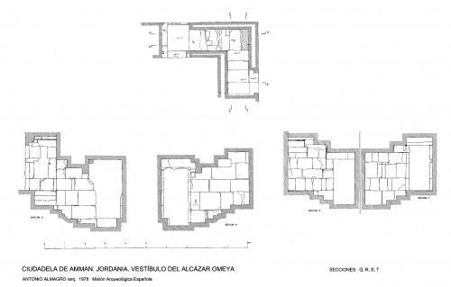 Ciudadela de Amman (Jordania) - Secciones vestíbulo Q, R, S, T