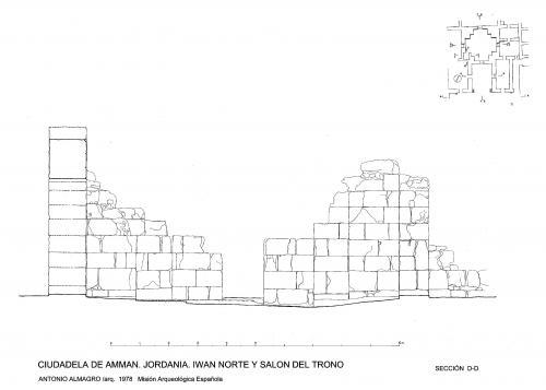 Ciudadela de Amman (Jordania) - Sección sala del trono D-D