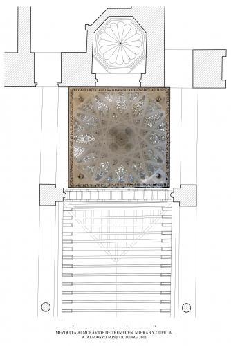 Mezquita aljama (Tremecén, Argelia) - Planta maqsura con ortoimagen cúpula