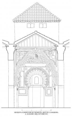 Mezquita aljama (Tremecén, Argelia) - Seccion transversal nave central