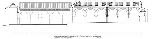 Mezquita aljama (Tremecén, Argelia) - Sección longitudinal hipótesis 1082