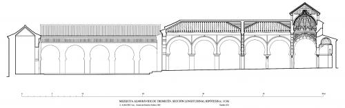 Mezquita aljama (Tremecén, Argelia) - Sección longitudinal hipótesis 1136