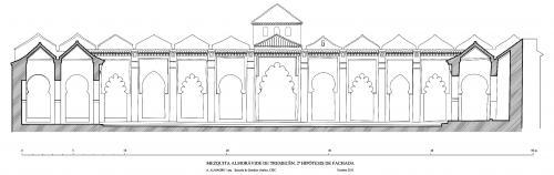 Mezquita aljama (Tremecén, Argelia) - Fachada patio 2ª hipótesis