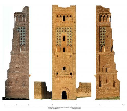 Mezquita de Mansura (Tremecén, Argelia) - Alzados alminar ortoimagenes