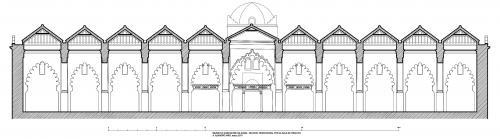 Mezquita mayor de Argel (Argelia) - Sección transversal