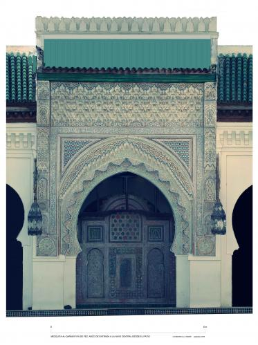Mezquita Qarawiyyin (Fez, Marruecos) - Arco entrada nave central