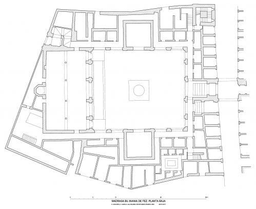 Madrasa Bu Inania (Fez, Marruecos) - Planta baja