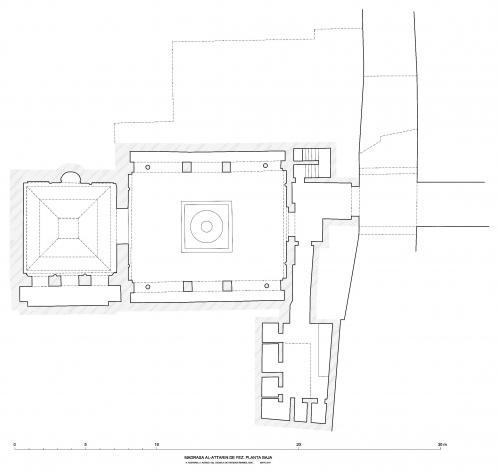 Madrasa al-Attarin (Fez, Marruecos) - Planta baja