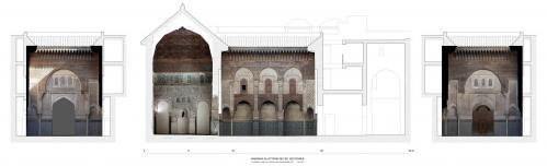 Madrasa al-Attarin (Fez, Marruecos) - Secciones con ortoimágenes
