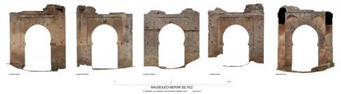 Mausoleos Meriníes (Fez, Marruecos) - Alzados mausoleo 3