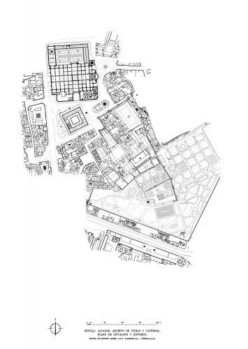 Alcázar de Sevilla - Plano de situación