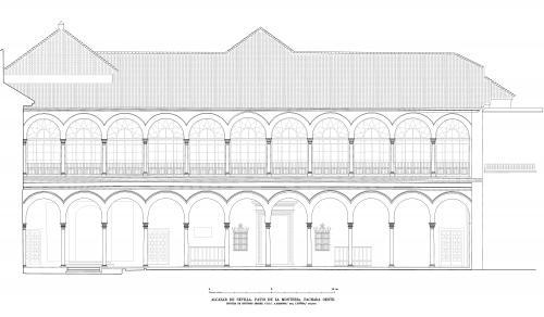 Alcázar de Sevilla - Fachada oeste patio Montería
