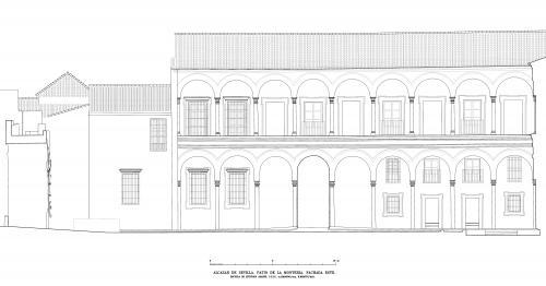 Alcázar de Sevilla - Fachada este patio Montería