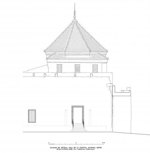 Alcázar de Sevilla - Fachada Este sala Justicia