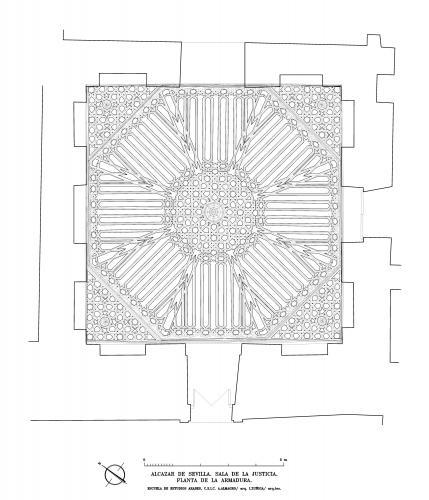 Alcázar de Sevilla - Planta armadura sala Justicia