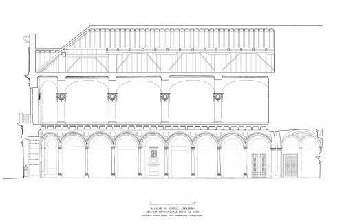 Alcázar de Sevilla - Sección longitudinal Apeadero