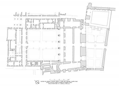 Alcázar de Sevilla - Planta baja Patio Crucero y palacio Gótico