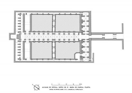 Alcázar de Sevilla - Planta Baños Maria de Padilla