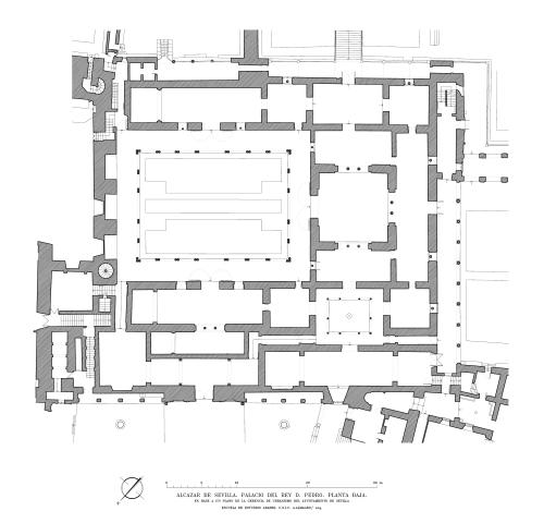 Alcázar de Sevilla - Planta baja del palacio de Pedro I