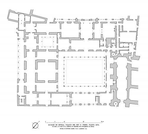 Alcázar de Sevilla - Planta alta del palacio de Pedro I