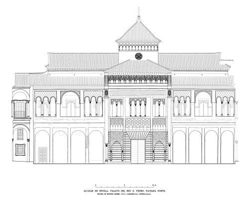 Alcázar de Sevilla - Fachada norte del palacio de Pedro I