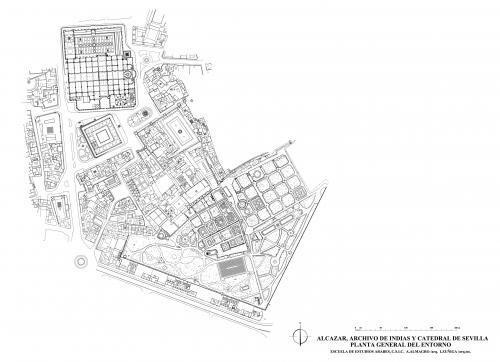 Catedral de Sevilla - Planta general del entorno