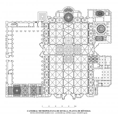 Catedral de Sevilla - Planta de bóvedas