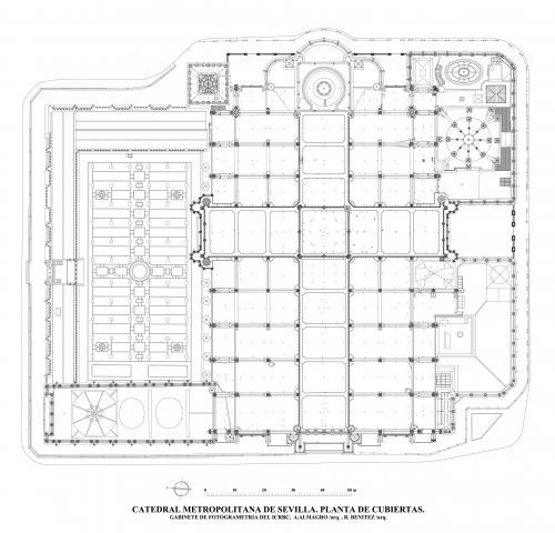 Catedral de Sevilla - Planta de cubiertas