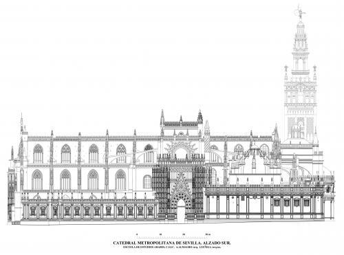 Catedral de Sevilla - Alzado sur