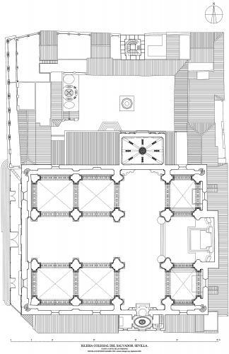 Colegiata del Salvador (Sevilla) - Planta a nivel de las tribunas