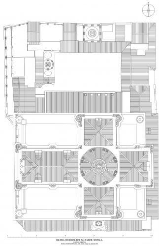Colegiata del Salvador (Sevilla) - Planta de cubiertas