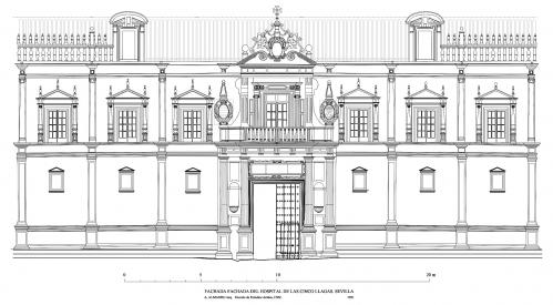 Hospital de las Cinco Llagas (Sevilla) - Alzado portada