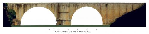 Puente de Almaraz sobre el río Tajo (Cáceres) - Alzado oeste