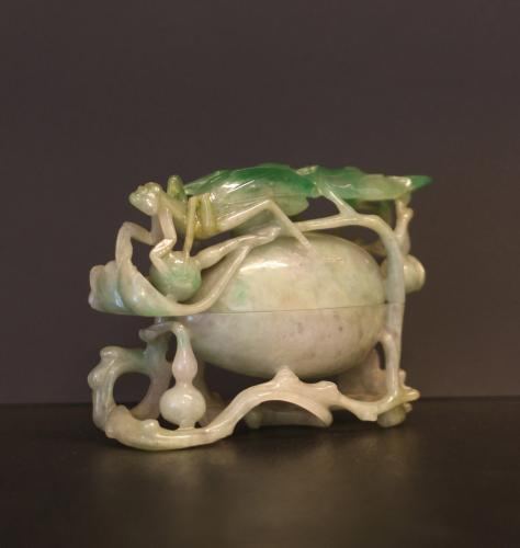 Caja oval con mantis