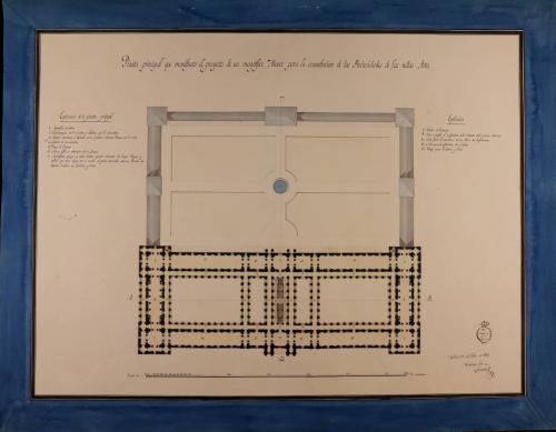 Planta principal de un museo para la conservación de las bellas artes, con destino a una capital
