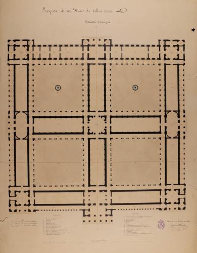 Planta principal de un museo de Bellas Artes