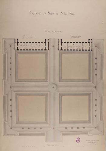 Planta de cubiertas de un museo de Bellas Artes