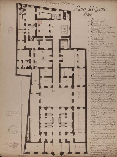 Planta baja del Palacio de Goyeneche para sede de la Real Academia de San Fernando