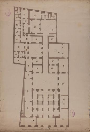 Copia de la planta baja del Palacio de Goyeneche para sede de la Real Academia de San Fernando