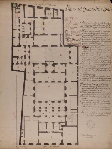 Planta principal del Palacio de Goyeneche para sede de la Real Academia de San Fernando