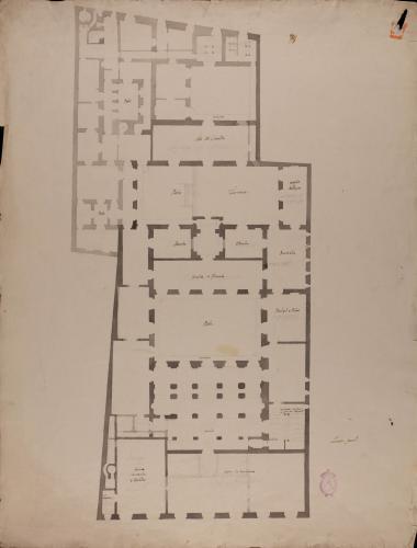 Copia de la planta principal del Palacio de Goyeneche para sede de la Real Academia de San Fernando